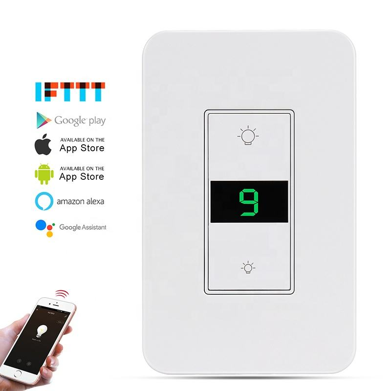 US Standard Tuya Electric Switches for Home Alexa Timer Wifi Smart Dimmer Switch