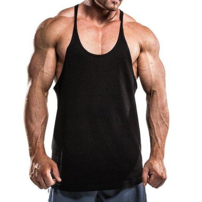 Fitness bodybuilding clothing men's tank top and men tank tops singlet