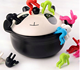 2pcs/lot Small People Shaped Rubber Cookware Lid Insert, Convenient for Your Life, Kitchen Accessory