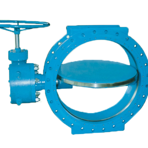 Large Diameter Manual Double Flanged Metal-to-metal Seated Casting Iron Butterfly Valve