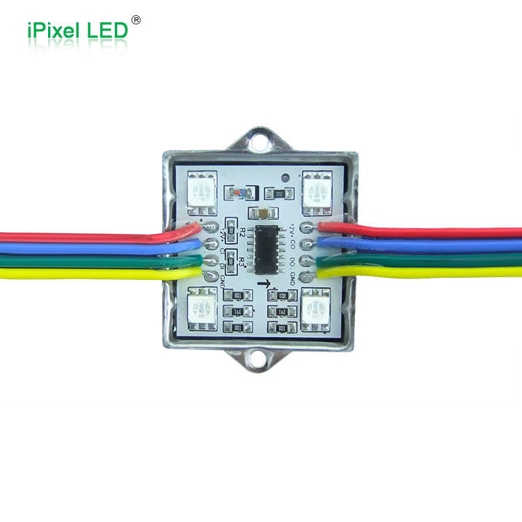 Módulos LED de píxeles RGB digitales, 35mm, 12v, ws2801, 4 LED/Pixel