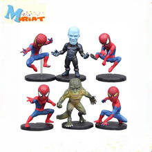 6pcs/lot Marvel Superhero Spiderman Figure Toy Cool Spider Man Lizard Electro The Amazing Spider