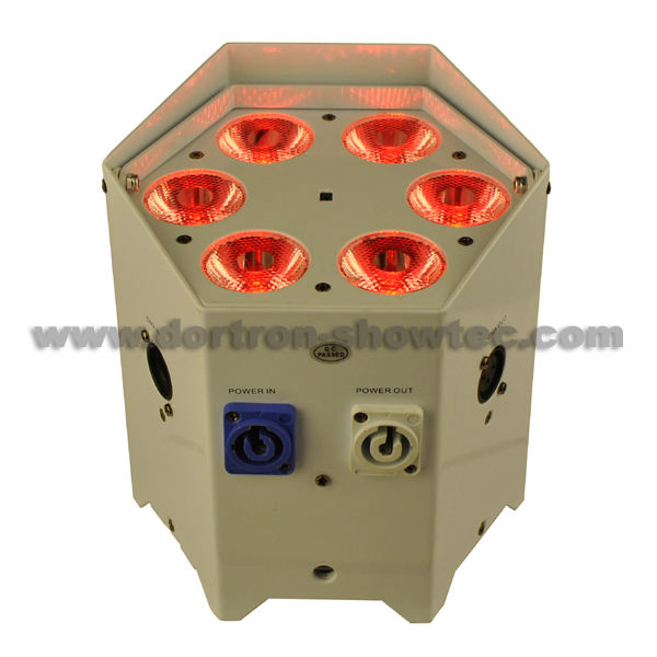 Batterie sans fil LED uplights 6x10 W RGBWA 5in1