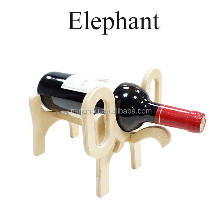 elephant wine single bottle holder,cute and funny animal decorative wine racks wine holders