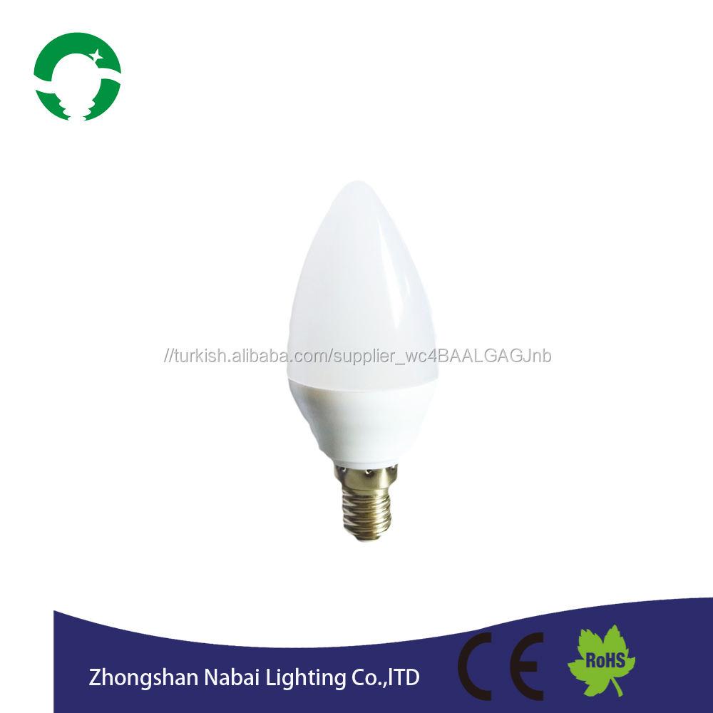 Led ampul ışık 3w5w <span class=keywords><strong>mum</strong></span> işığı enerji tasarrufu yüksek performanslı E14 tabanı ile led aydınlatma