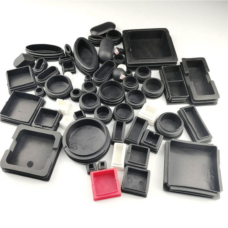 Round and Square shape black color PP plastic blanking end furniture leg tube plastic end caps for round tubing