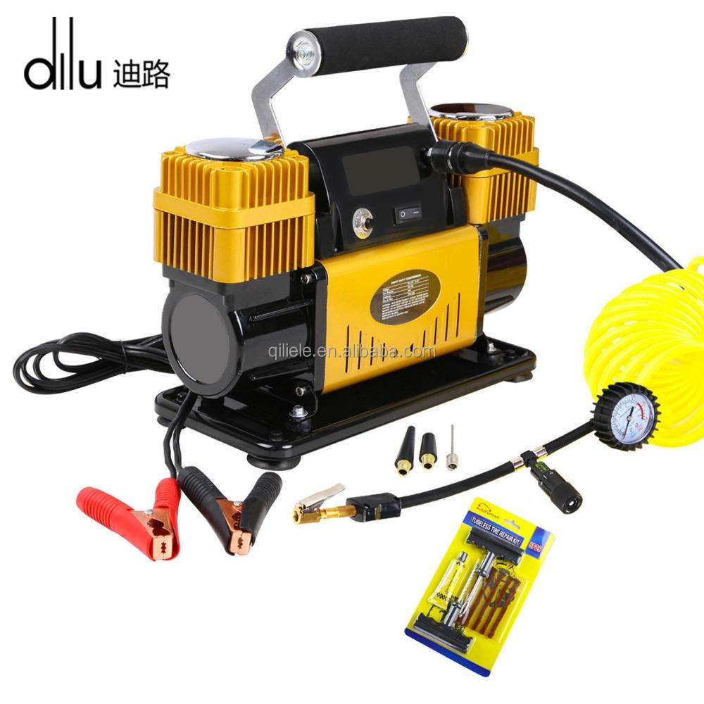 Car Air Compressor 12v 4 × 4 Tyre Deflator 4wd Inflator Portable 300L/分