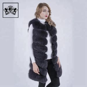 Custom Ladies Women Outdoor Real Natural Fox Fur Vest