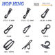 Hook Bag HOP HING Plastic Cord Hook / Plastic Snap Hook / Plastic Strap Hook for Bag