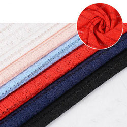 Good price textiles cloth jersey red white polyester stripe lining fabric