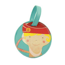China Personalized Cute Leather Luggage Bag Baggage Tags ID Labels