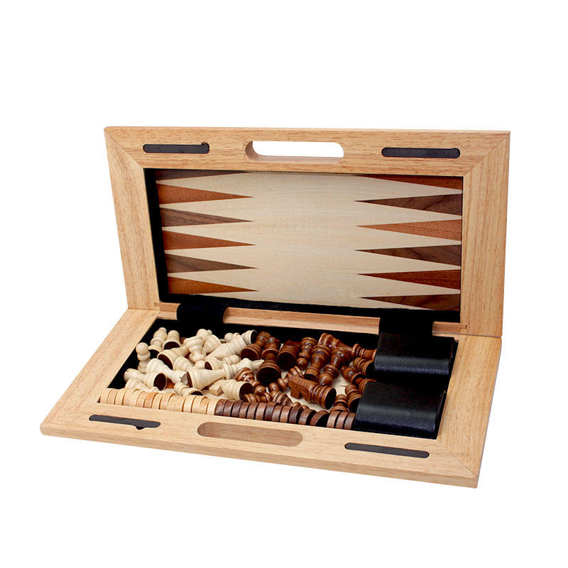 Wooden Chess Game / Backgammon / Checkers Set / Wooden Games