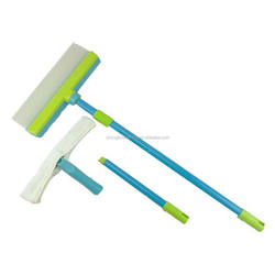 2018 TV silicone window squeegee/telescopic handle silicone squeegee/silicone water blade