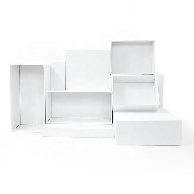 Customized cardboard white gift box with lids Factory direct sales