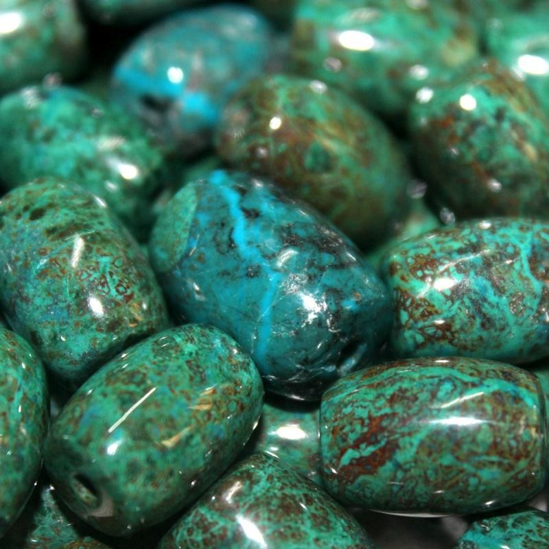 Natural loose gemstone beads for jewelry, chrysocolla stone beads