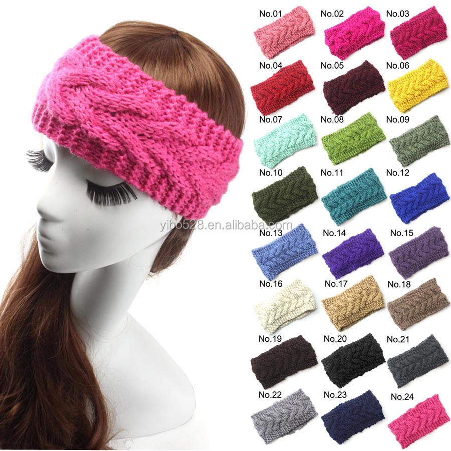 Wholesale Hot Sale Hair Accessories Women Knit Crochet Headband Winter Braid Head wrap
