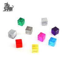Promotional Plastic transparent colorful cube for playing