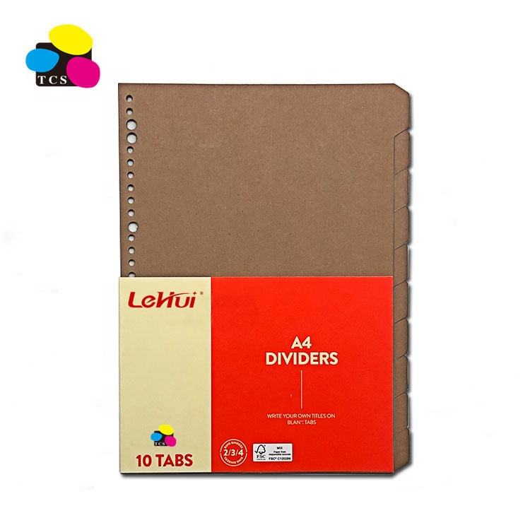 A4 High Quality Paper Index Divider For File Folder