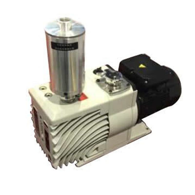 Single Step Rotary Vane Vacuum Pump (6.6 CFM) with KF25 Adapter and Alternative Exhaust Filter- EQ-TW-3A