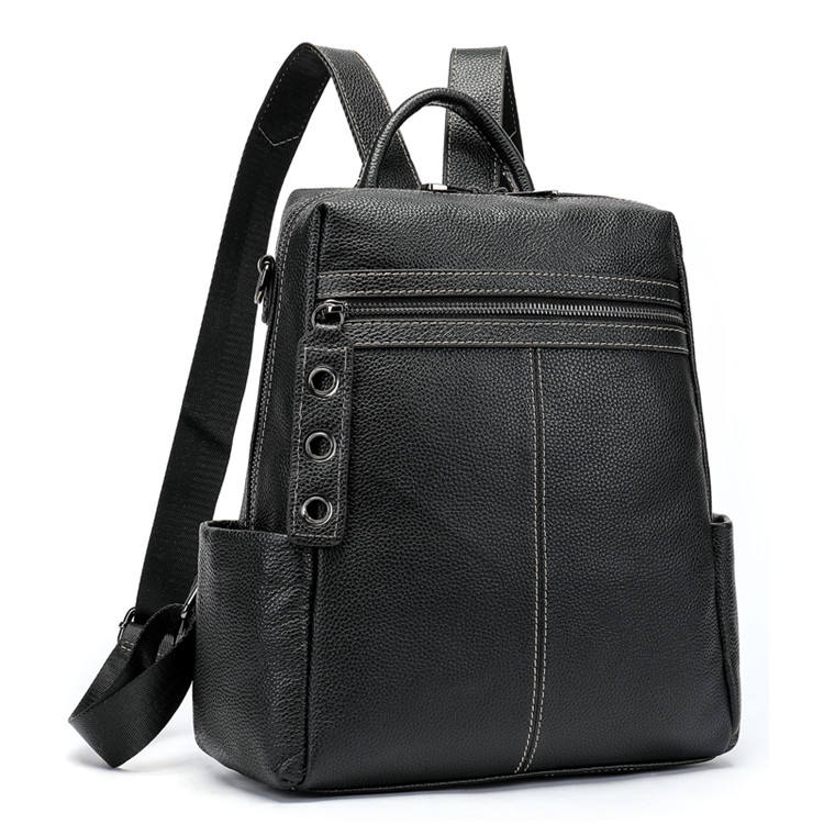 Drop Shipping Accept Sample F107 Nice Women'S Messenger Backpack Bag Leather