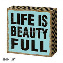 Square wall decorative wall retro tin sign
