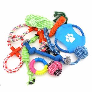 Custom Professional Cheap Durable Pet Toys Organzic Soft Zanies Rope Pet Dog Chew Activity Toys 10 Set Pack Wholesale