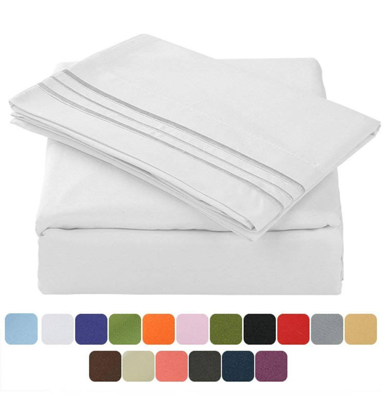 1800 Luxury Bedding Collection By Yintex 100% Microfiber Fabric Bed Sheet Set