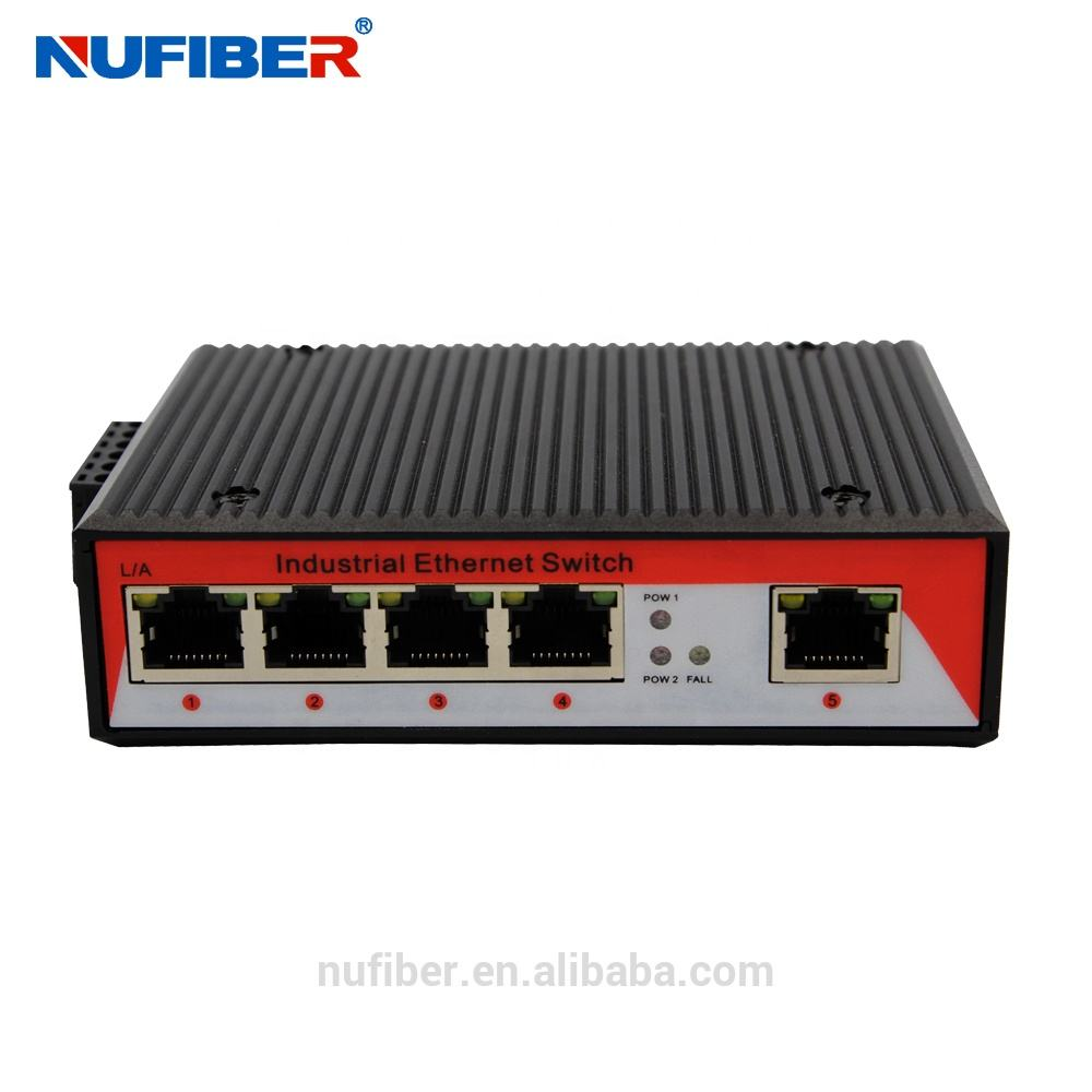 Excellent power over ethernet cable 5 ports outdoor industrial poe switch with dual power inputs