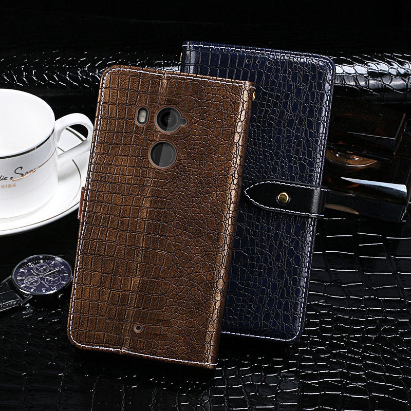 Crocodile up leather for HTC U11+/U11 Plus cover Factory OEM tpu High Quality Luxury Flip Wallet PU Leather for HTC Case