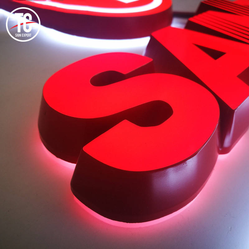 Frontlit En Backlit Led Logo Aangepaste Outdoor Reclame Acryl 3D Muur Brief Logo Sign