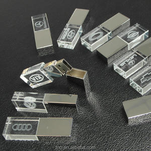 Custom Corporate Gift Glas Usb Stick Pendrive Usb 2.0 3.0 1Gb 4Gb 8Gb 16Gb 32Gb 64Gb Crystal Usb Flash Drives Met Led Licht