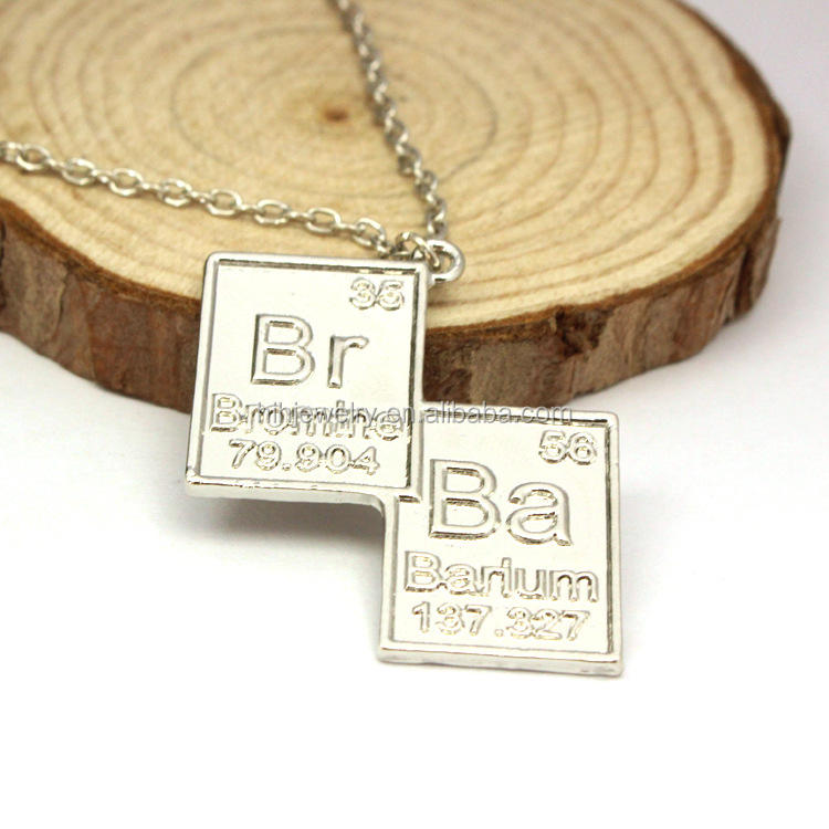 BREAKING BAD Inspired Chain Necklace BR BA Pendants Necklace