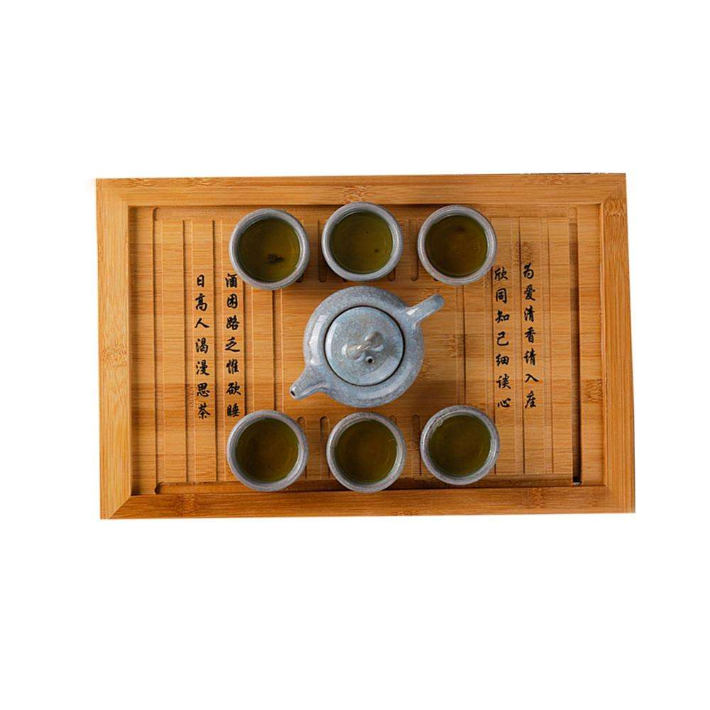 Eco-friendly portable bamboo tea trays small Chinese Gongfu tea serving trays Factory