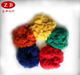 recycled and virgin dyed synthetic chemical fiber / dyed psf