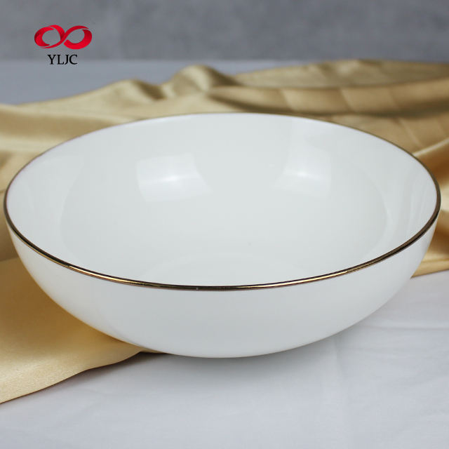 China wholesale 7.5 inch bone china round Salad porcelain bowl for dinner