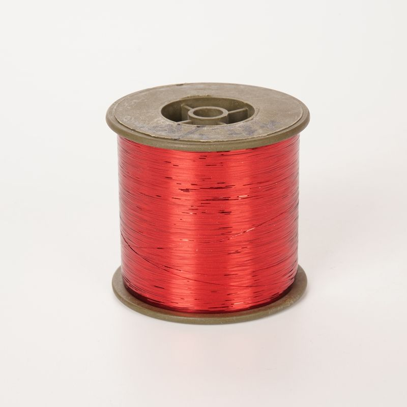 Red Lurex M type metallic yarn(polyester) factory direct sell