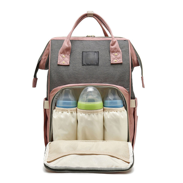 Modern and elegant in fashion travel nappy mummy backpack changing baby diaper bag for baby care