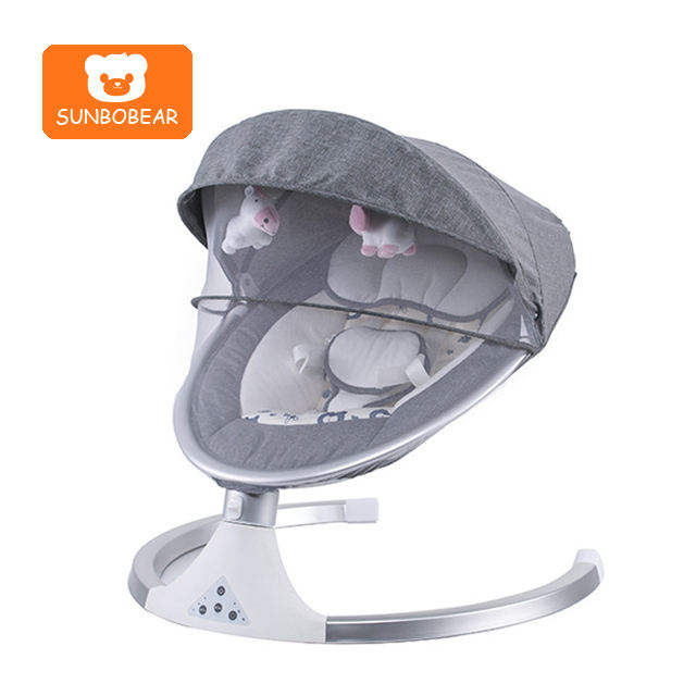Electric baby cot automatic cradle swing baby bed rocking chair with music