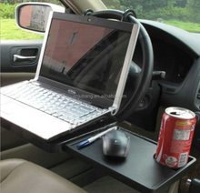 Car dinning and laptop table / car Eating Steering Wheel Tray Table Desk with Drawer Foldable