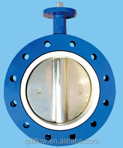 PTFE Lined U Section Butterfly Valve DIN2501 PN10/PN16 ASME B16.1 125LB & 150LB JIS B2220 10K