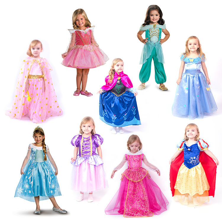 Factory Price Custom Children Princess Costume kids costume princess dresses costumes