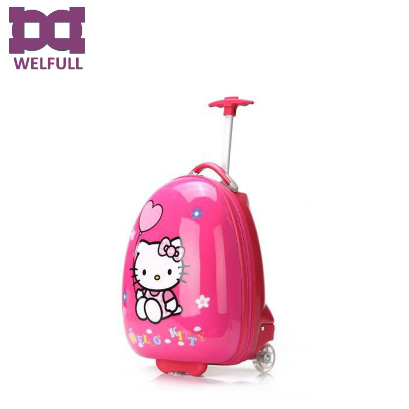 Filles bonjour kitty enfants photos ABS valise trolley