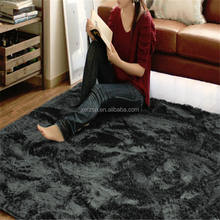 anti-dust polyester shaggy shiny rug carpety