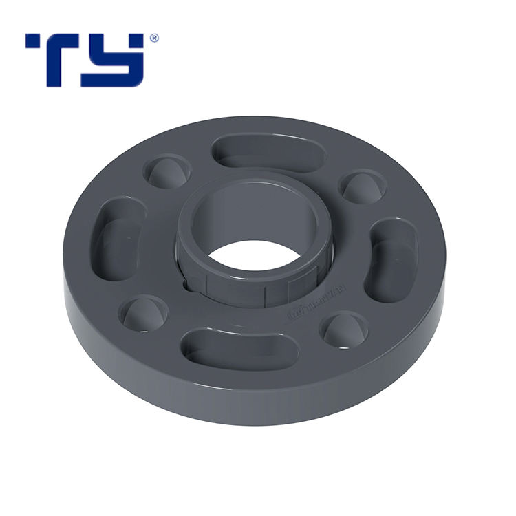 GB PN16 Industrial Pressure Pipes Fittings Removable Casing PVC Pipe Flange OF PVC For Water Supply