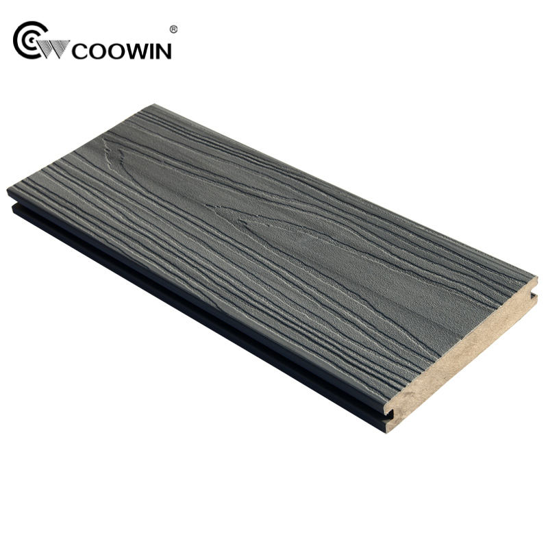 Solid hardwood good look exterior co extrusionc composite wood flooring