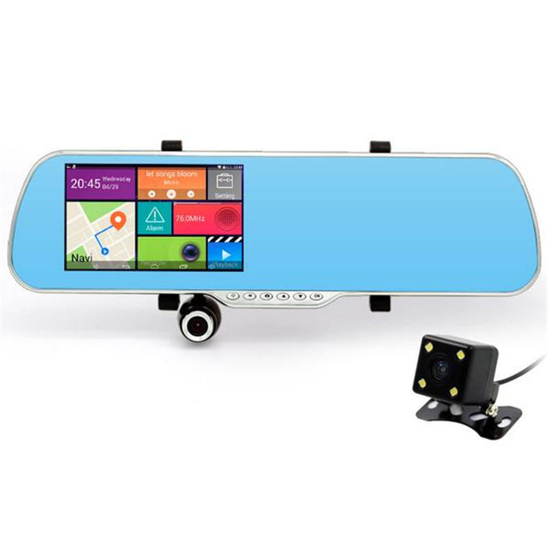 5 Inch Android Rearview Mirror+Car GPS+WIFI Car Android Gps Navigation Box