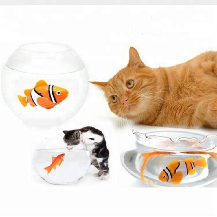 Wholesale cats electronic fish toys led plastic toy fish battery-powered waterproof cat robot fish toy