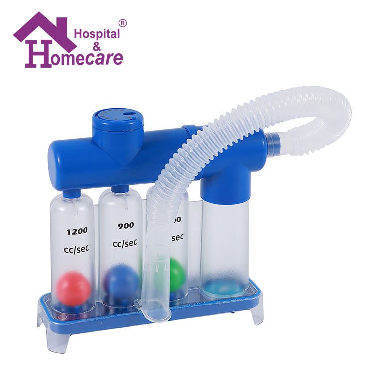 Medical three balls types of mouthpiece portable spirometer