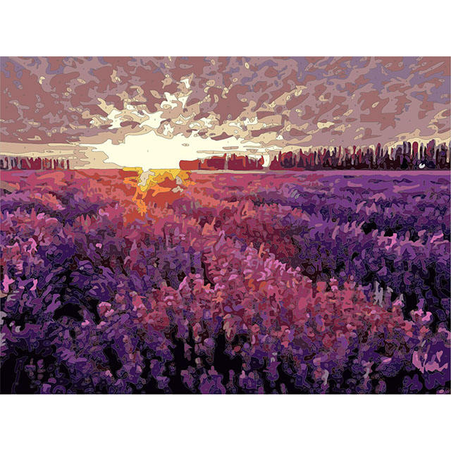 Lavender Sea Painting By Numbers, Famous Art Canvas Paintings By Numbers Acrylic Paint