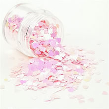 wholesale  Fashionable opal dot and heart shaped glitter for Nail Art decoration